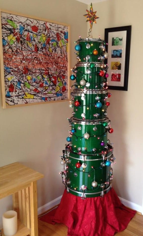 DIY Christmas tree drum