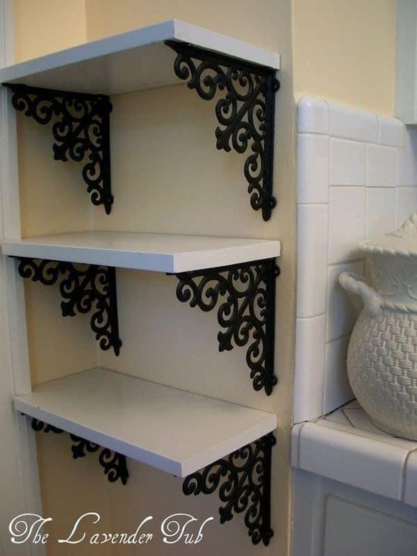 DIY shelves elegant brackets