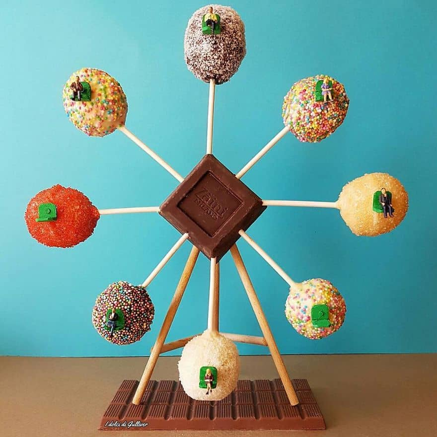food art ferris wheel