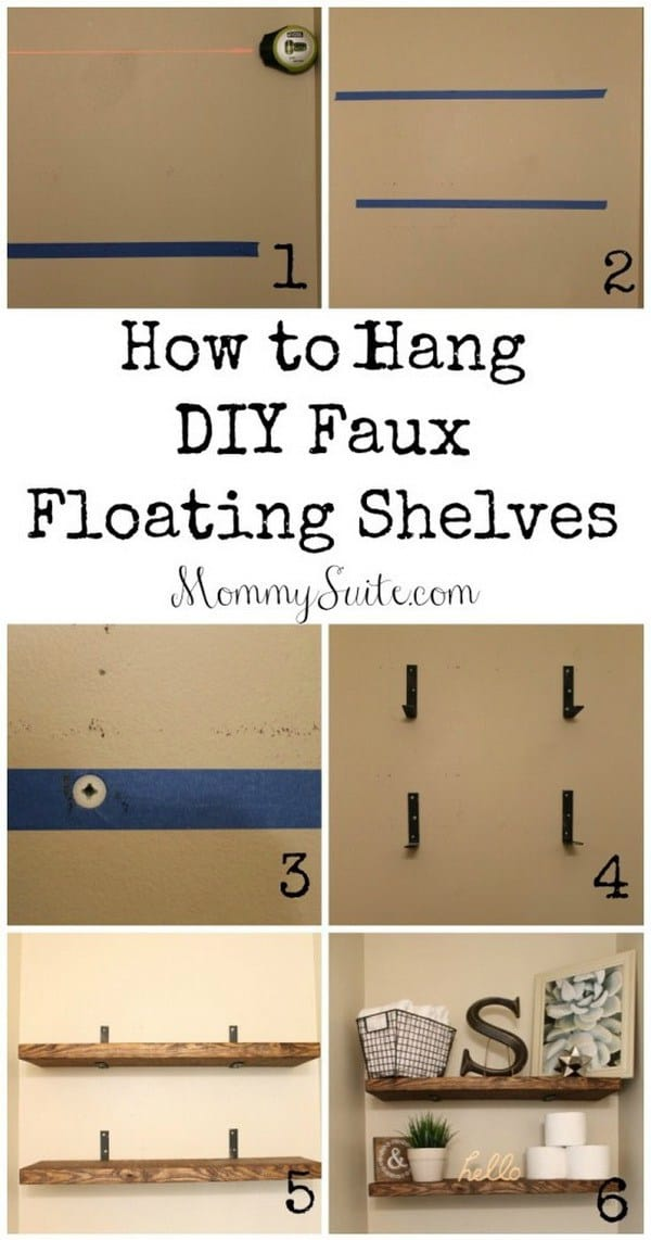DIY shelves floating shelf