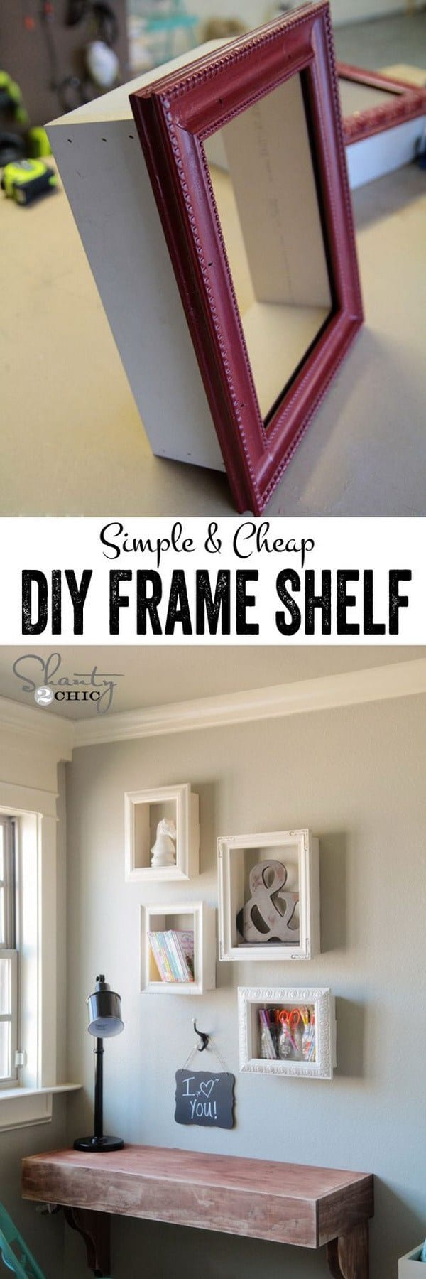 DIY shelves frame shelf
