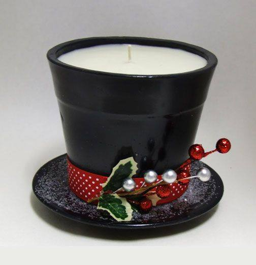 diy christmas decorations frosty candle