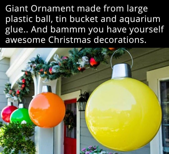 diy christmas decorations giant ornaments