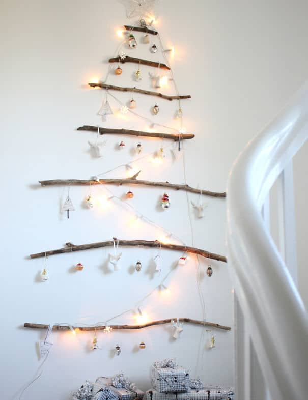 DIY Christmas tree hanging-branch