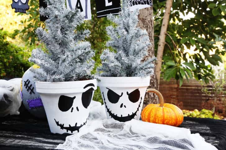 the nightmare before christmas crafts jack skellington pot - Jack Skeleton Christmas Decorations