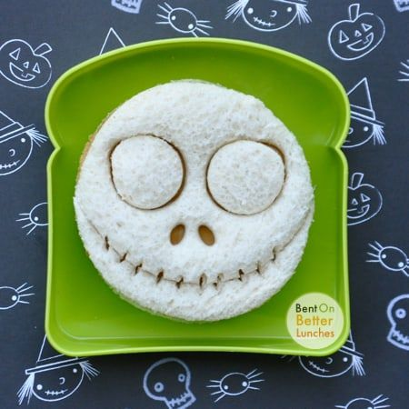 the Nightmare Before Christmas crafts jack skellington sandwich