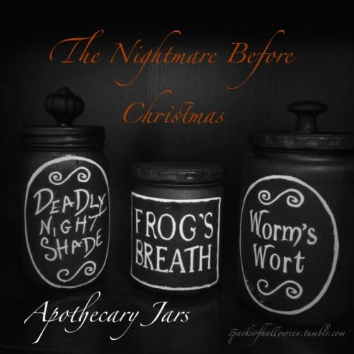 the Nightmare Before Christmas crafts jars 2