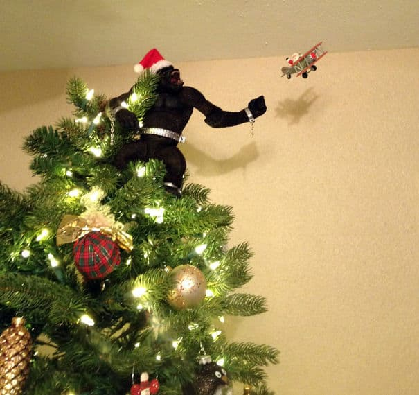 DIY Christmas tree king kong