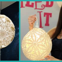 Learn How To Make This Beautiful DIY Doily Lantern