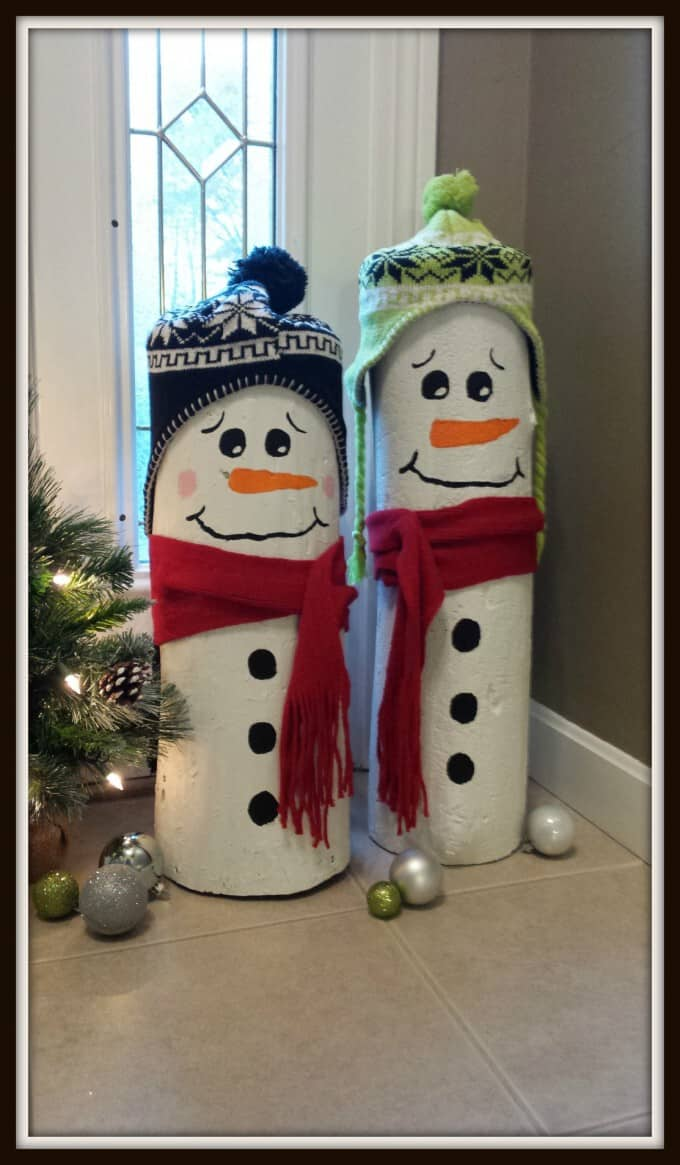 diy christmas decorations log snowmen 2 diy christmas decorations log snowmen