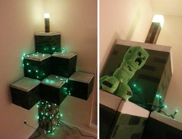 DIY Christmas tree minecraft