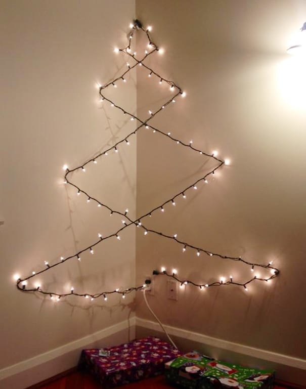 DIY Christmas tree minimalist