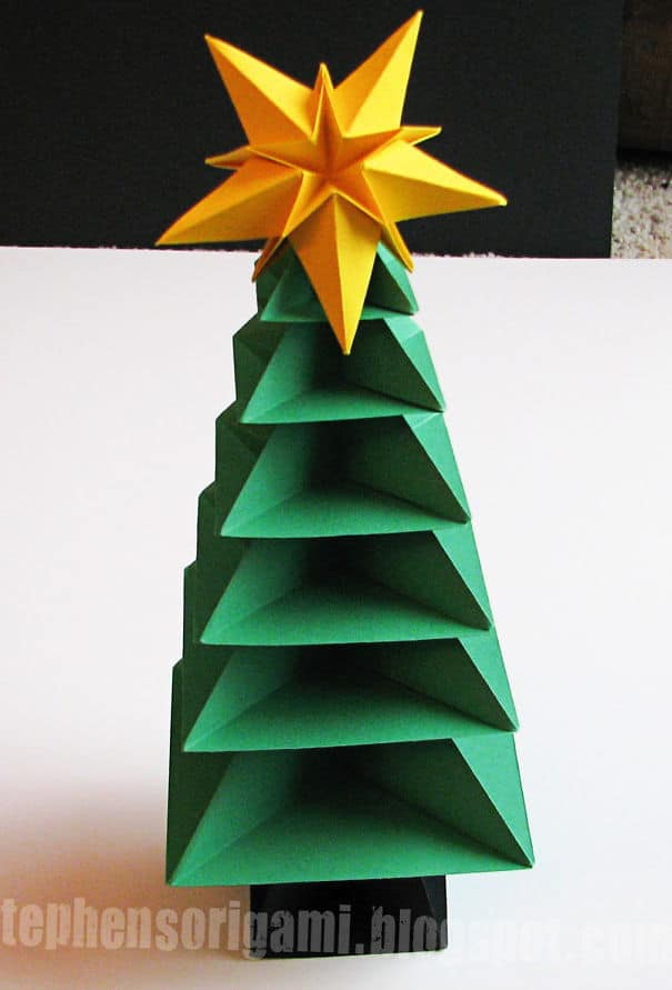 DIY Christmas tree origami tree