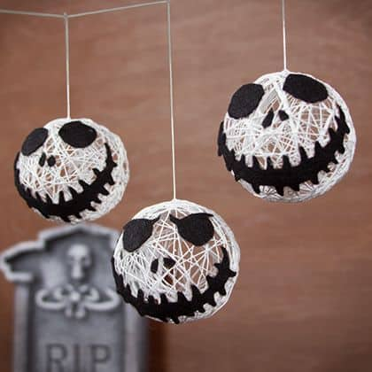try these diy jack skellington christmas tree ornaments