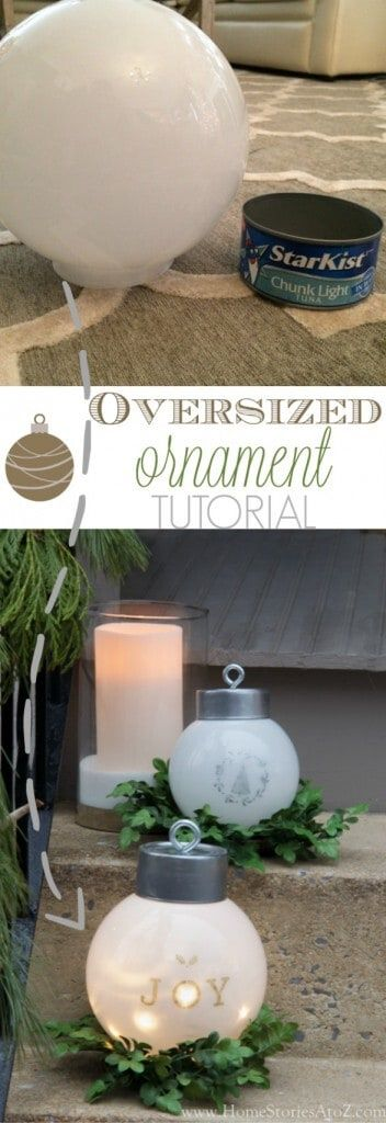 diy christmas decorations over-sized ornament tutorial