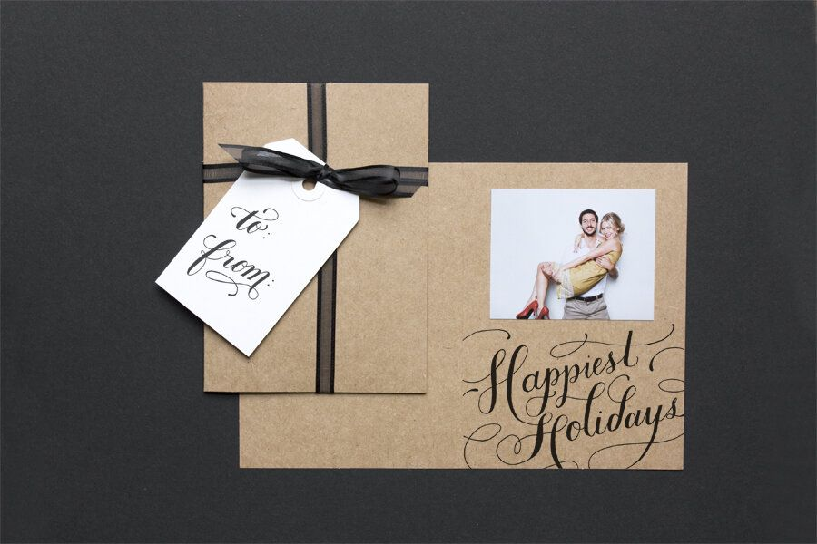 DIY Christmas cards package card