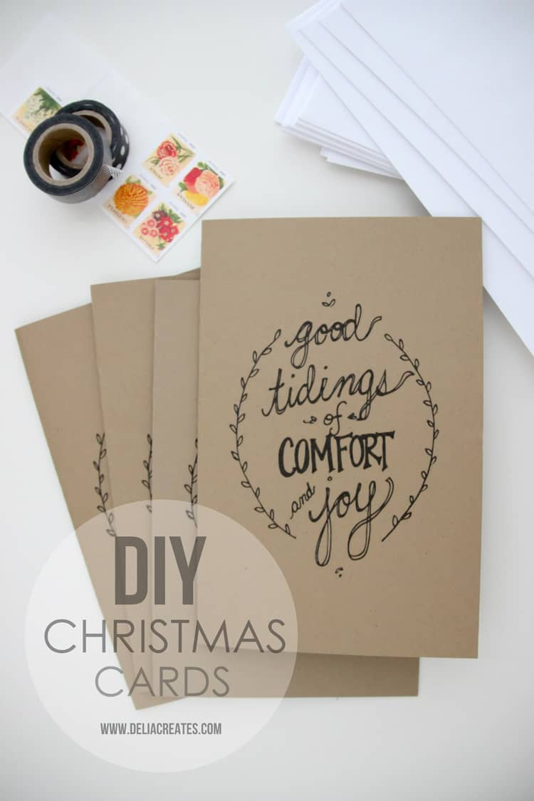 DIY Christmas cards personalized card
