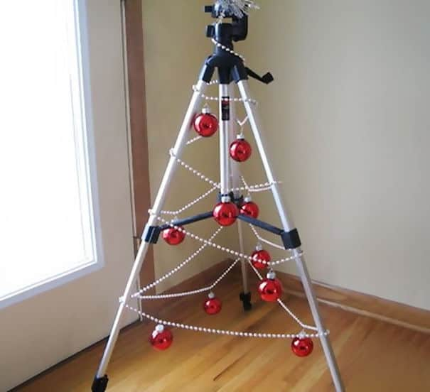 DIY Christmas tree photography