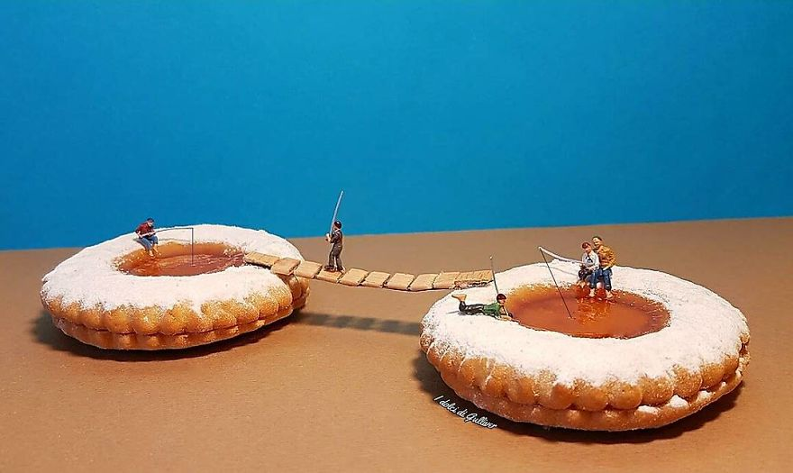 food art pie-fishing