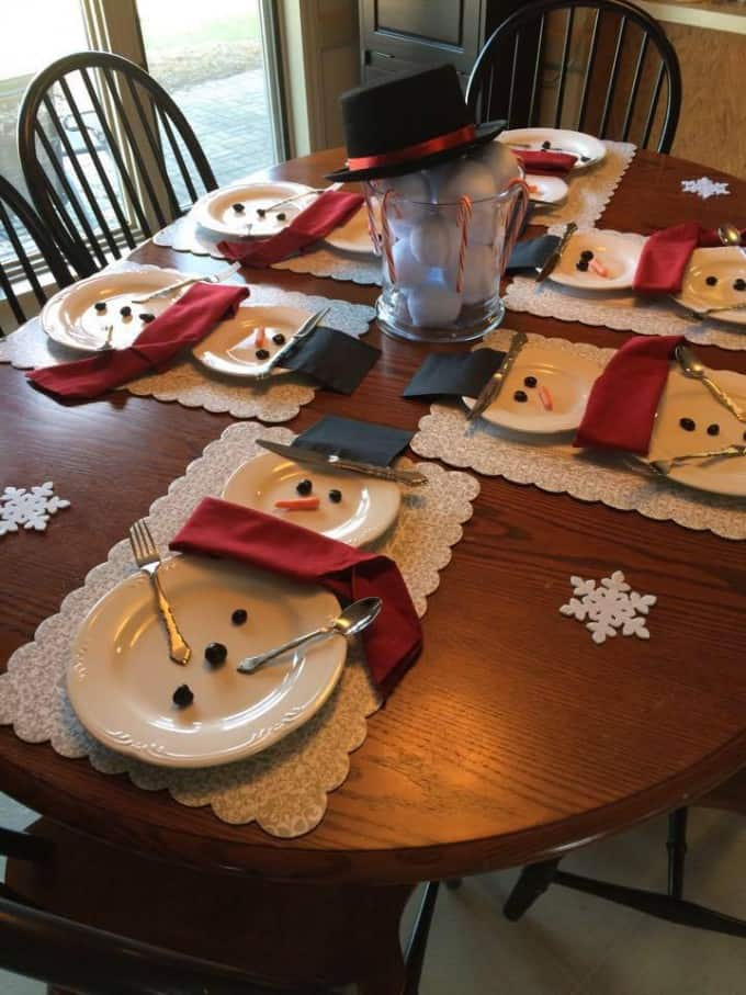 diy christmas decorations plate setting