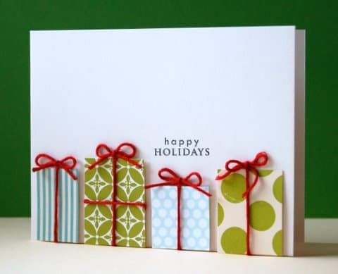 16 festive diy christmas cards your family will love diy christmas cards present card m4hsunfo