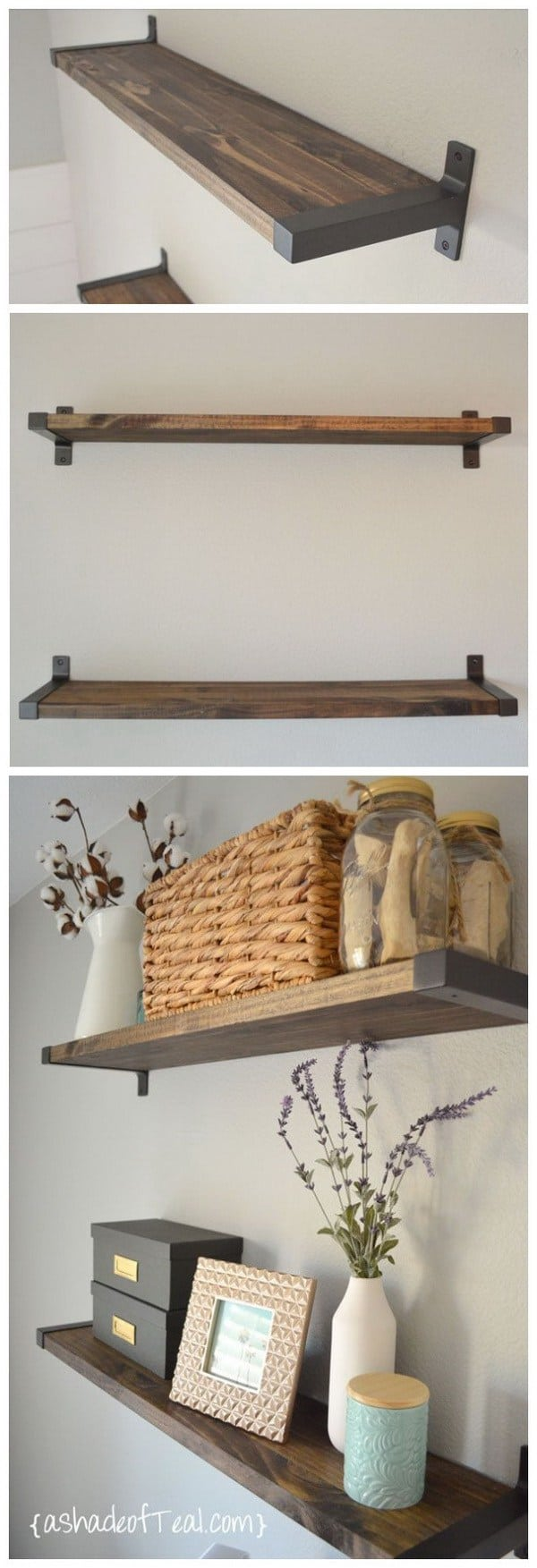 DIY shelves rustic shelf