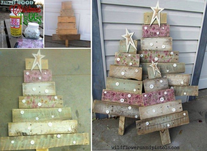 wood yard decorations 52 spectacular diy christmas decorations you must try this year