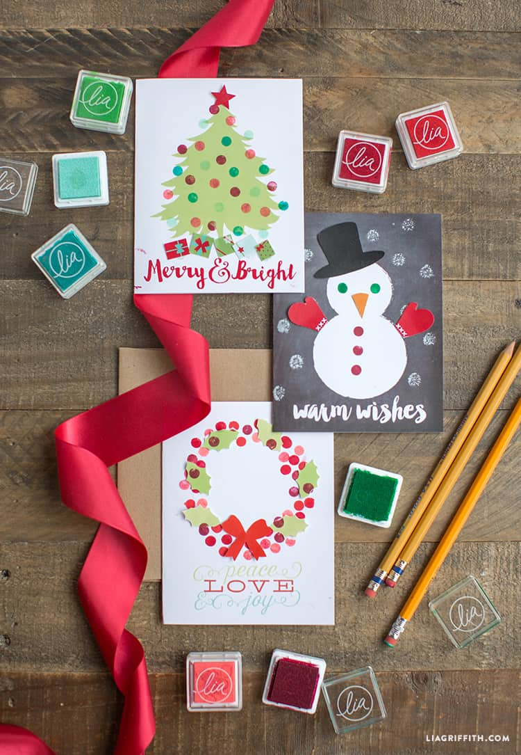 DIY Christmas cards stamp cards
