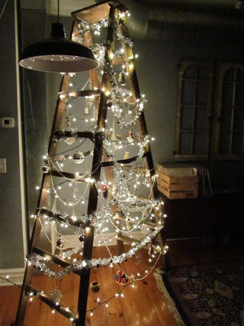 DIY Christmas tree step-ladder