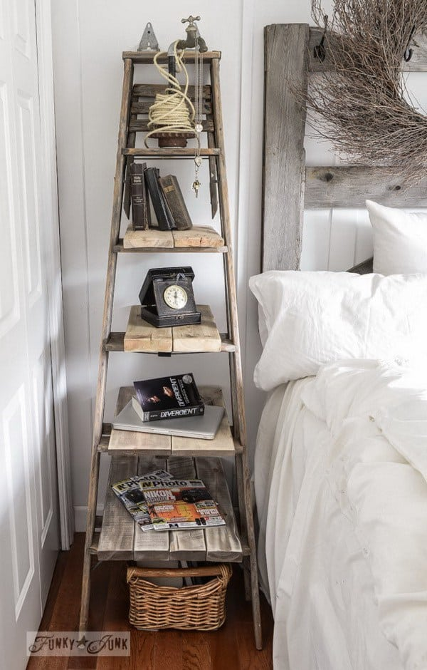 DIY shelves stepladder shelf