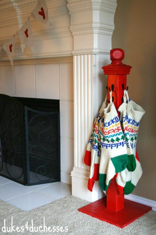 diy christmas decorations stocking hanger
