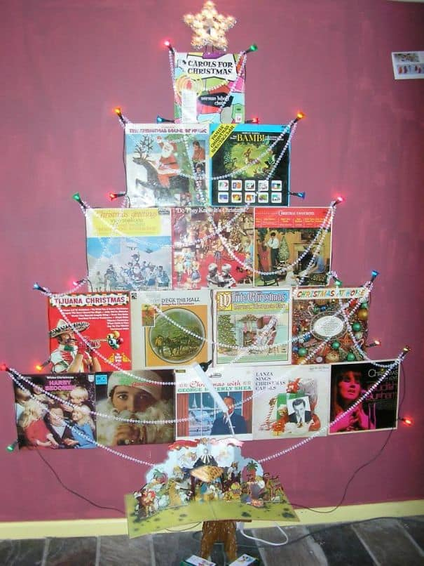 DIY Christmas tree vinyl tree