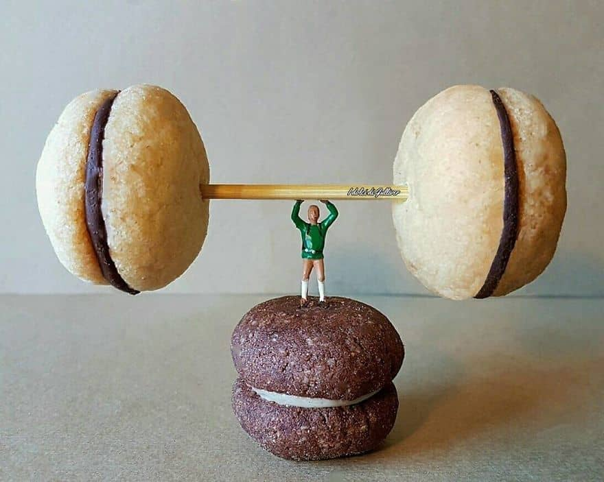 food art weightlifting champion