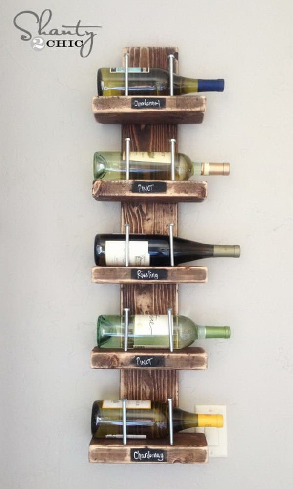 DIY shelves wine shelf