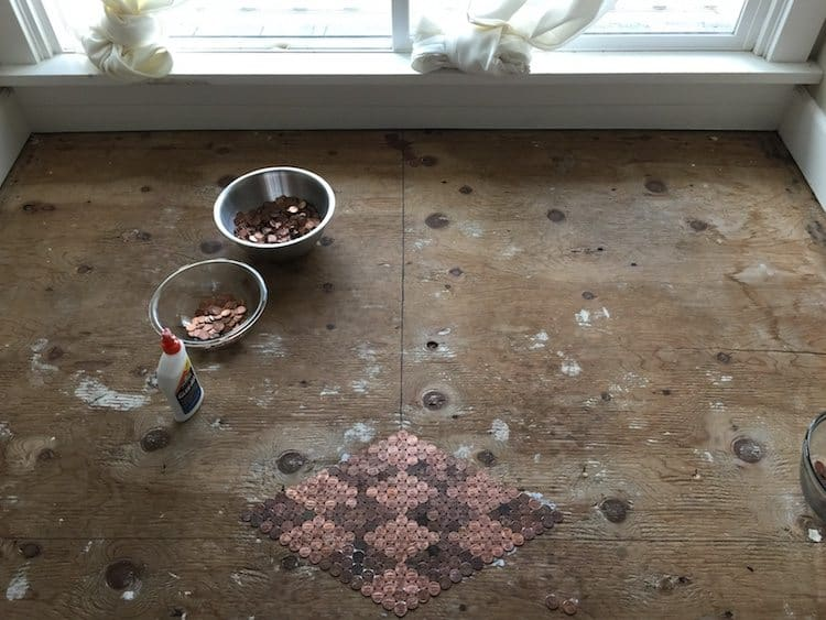 floor made with pennies 1