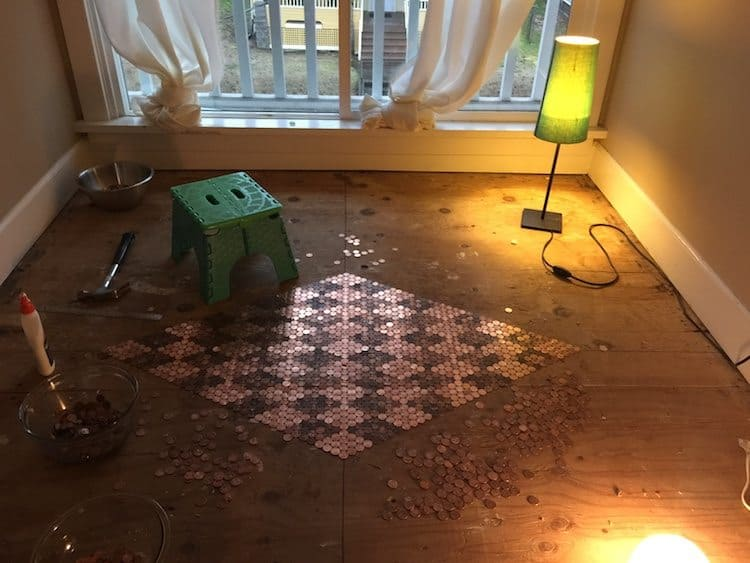 floor made with pennies 2