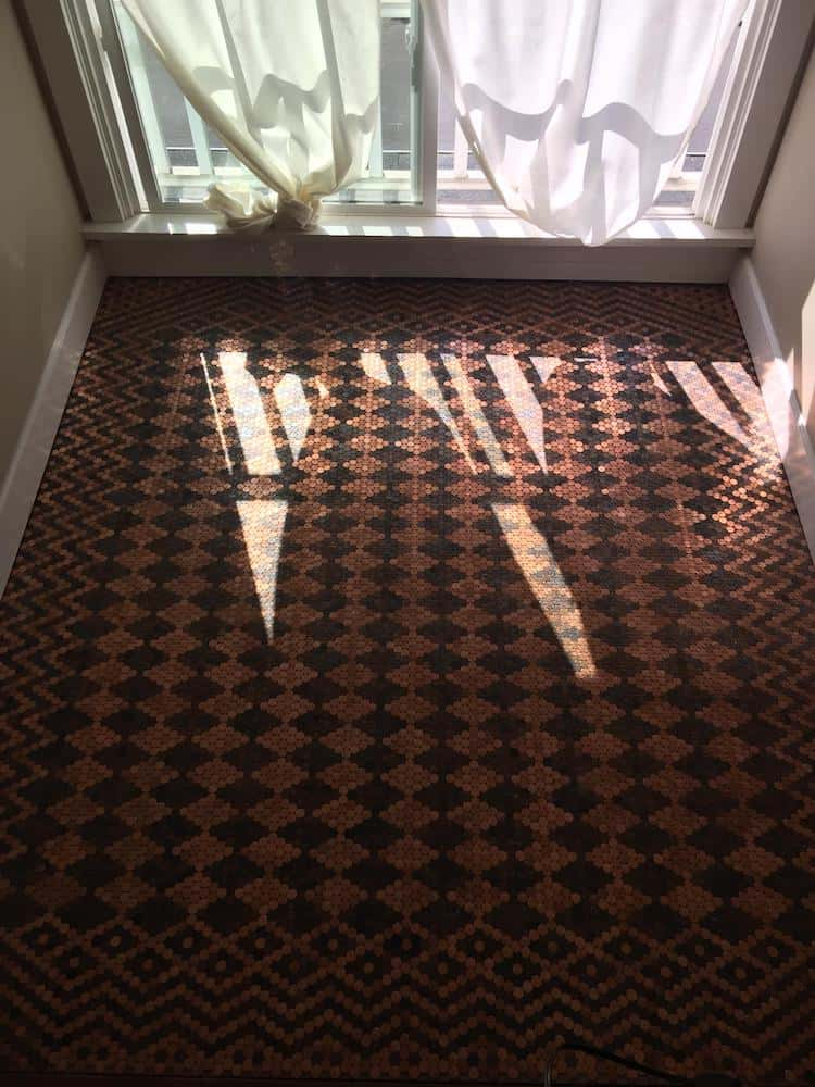 floor made with pennies 8