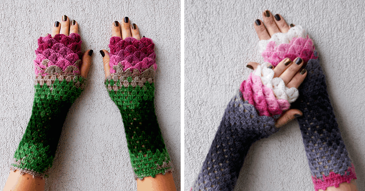 These Dragon Crochet Gloves Will Keep You Warm And Fashionable All