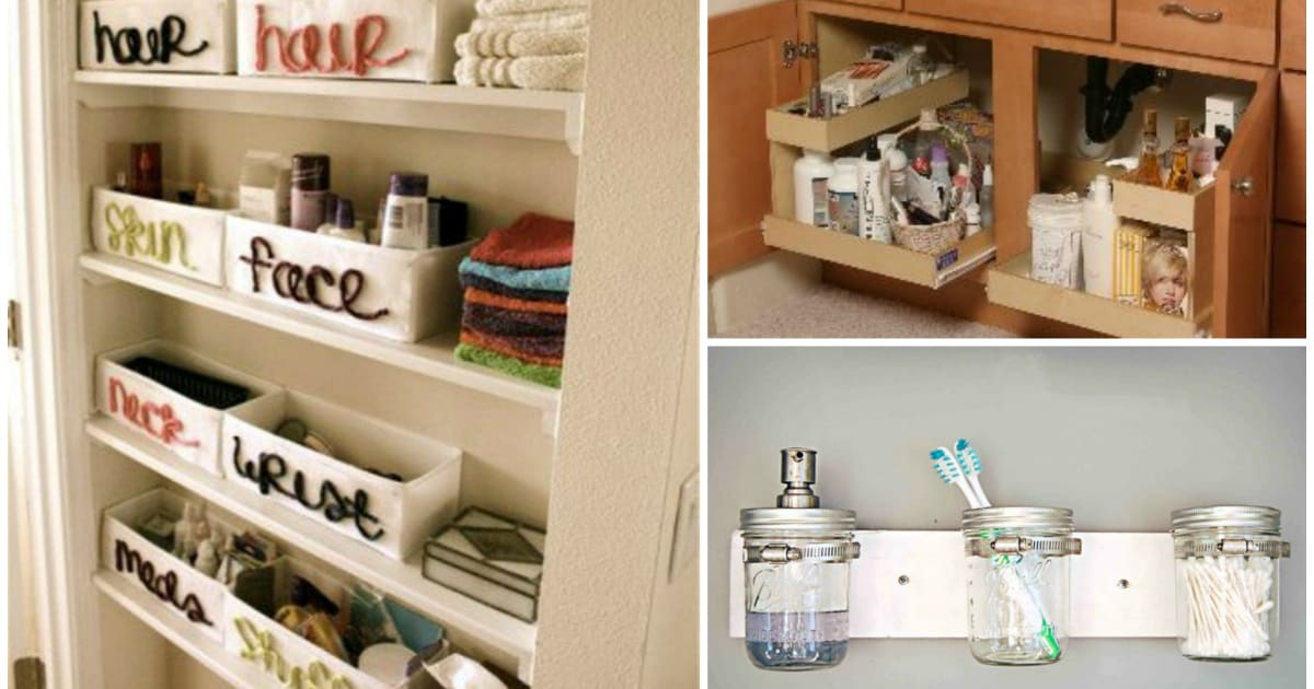 25 Creative Bathroom Organization Ideas