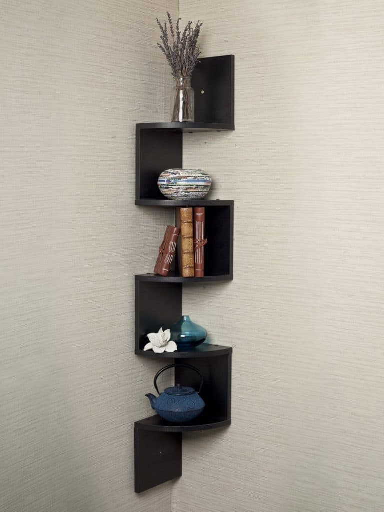 Black Living Room Shelf Design