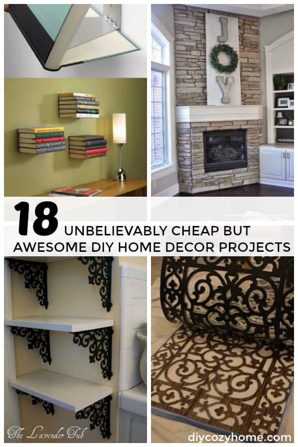 18 Unbelievably Cheap But Awesome DIY Home Decor Projects #diy #homedecor