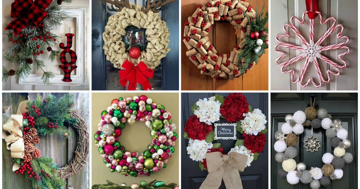15 DIY Christmas Wreaths To Get You in the Christmas Spirit