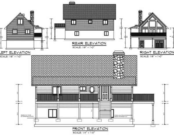 52 free diy cabin and tiny home blueprints 3 this two bedroom cabin has a loft and basement malvernweather Gallery