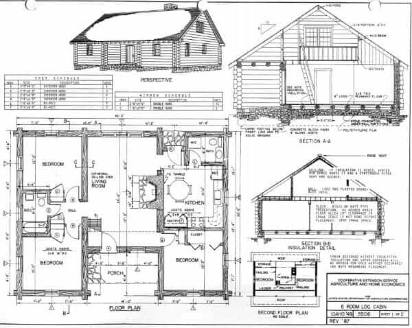 log cabin blue prints 52 free diy cabin and tiny home blueprints diy cozy home 9688