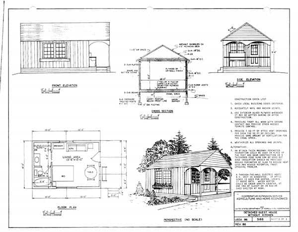 52 free diy cabin and tiny home blueprints for Cabin blueprints free