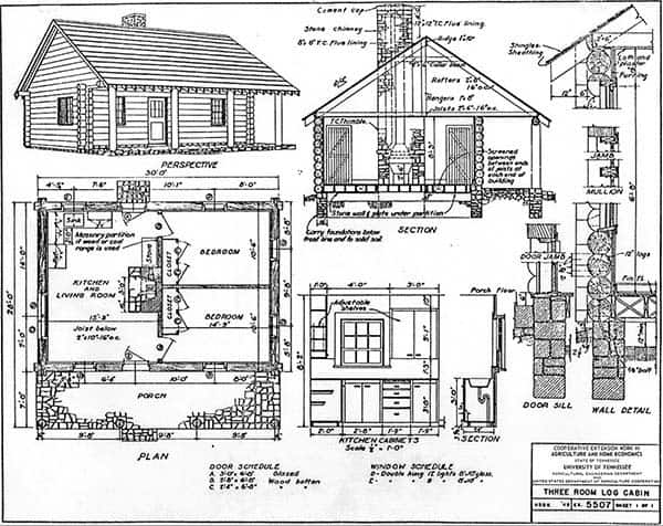 Do It Yourself Home Design: 52 Free DIY Cabin And Tiny Home Blueprints