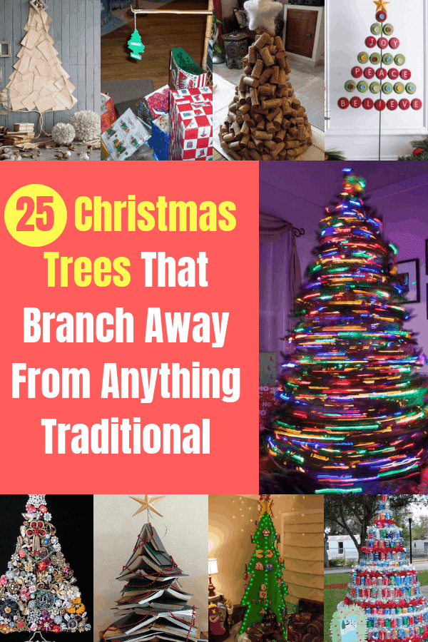 25 Christmas Trees That Branch Away From Anything Traditional #holidays #diychristmas