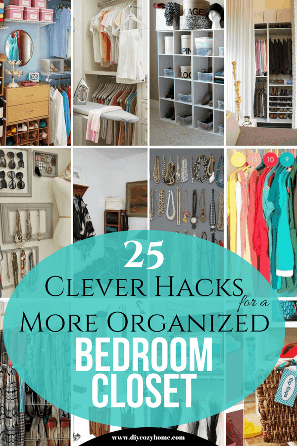 25 Clever Hacks For A More Organized Bedroom Closet