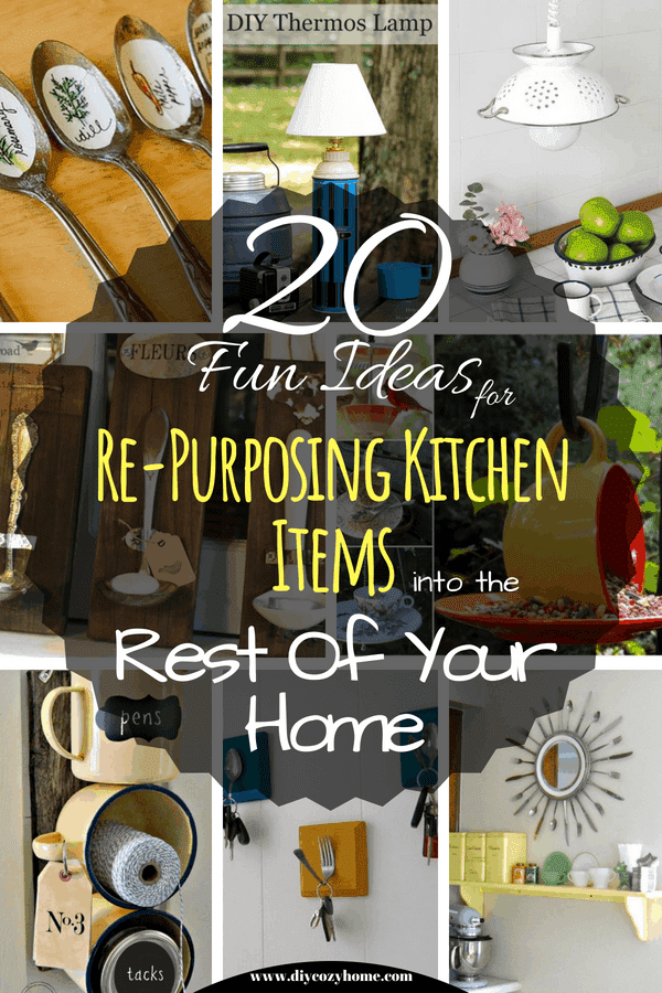 20 Fun Ideas For Re-Purposing Kitchen Items Into The Rest Of Your Home