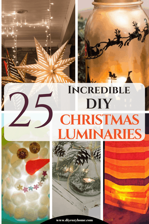 25 Incredible DIY Christmas Luminaries